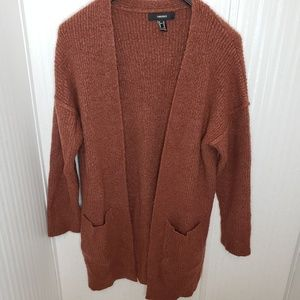 Forever 21 Maroon Cardigan Sweater